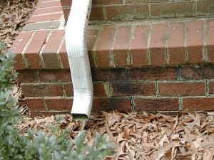 Gutters help foundations