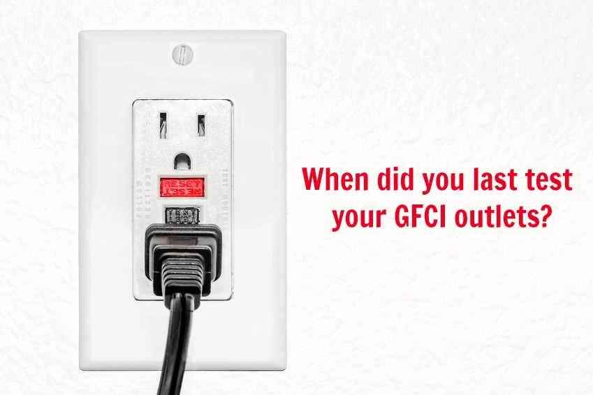 Home Maintenance Tip: Check your GFCI Outlets