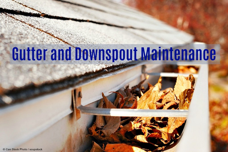 A gutter drainage system directs rain runoff from the roof large surface area away from the house. To function, the gutters and downspouts must be free of debris.
